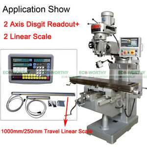2-Axis-Digital-Readout-amp-TTL-Linear-Scale-9x42DRO-Kit-for-Mill-Bridgeport-EMD