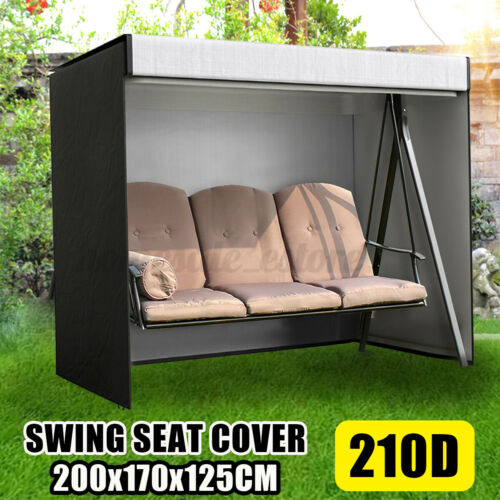 3 Seater 210D Swing Seat Chair Hammock Cover Outdoor Garden Furniture Protector