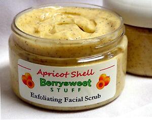 Apricot-Shell-Face-Scrub-Natural-Gentle-Exfoliating-Handmade-Skin-4-Oz-Vegan
