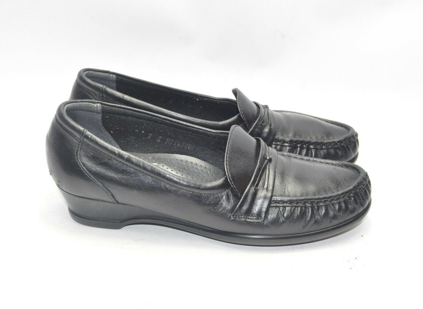 Womens SAS Tripad Comfort Shoes Loafers Size EXCELLENT 7 Slim Black Leather EXCELLENT Size 1e4a20
