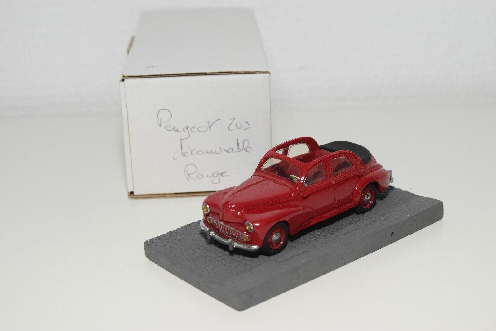 .ccc classiques peugeot 203 decouvrable cabriolet maroon - boxen selten selten ( 5