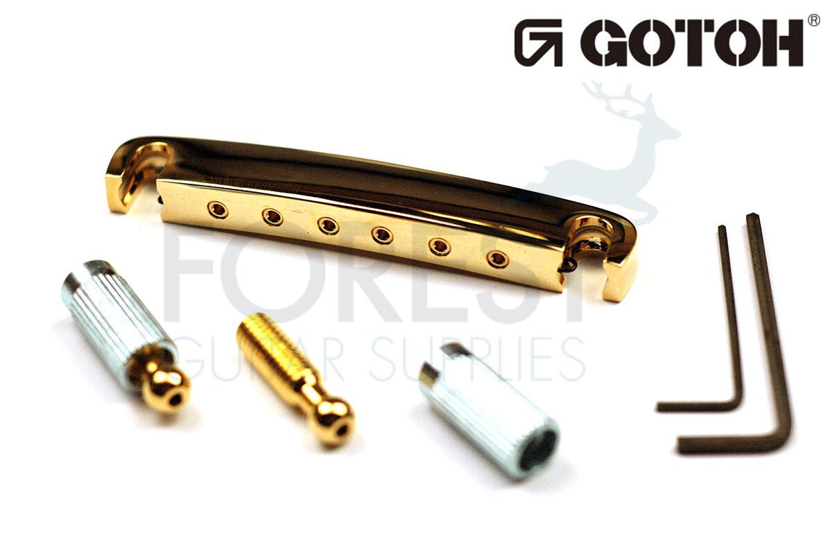 Gotoh Gitarre Saitenhalter 510fa Solid Aluminum Gold Finish