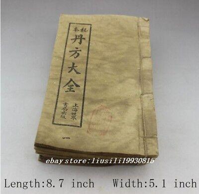 "Do the old Antique Collection Medical books handwrite /""医学从众录/"" Thread bound book"