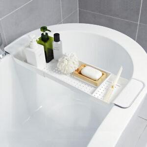 details sur tablette de baignoire etagere salle de bain rangement plastique passoire plateau