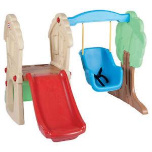 Little Tikes Hide Amp Seek Climber Swing Set 611906051456 Ebay