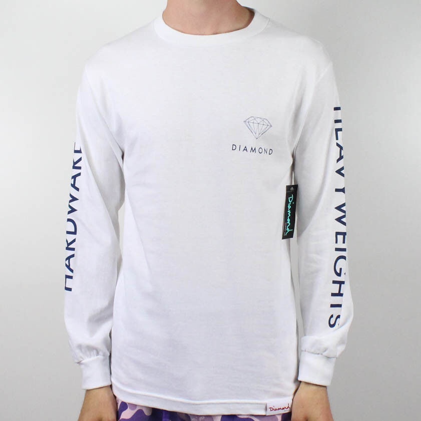 Diamond Futura L S T-Shirt – White in sizes S,XL