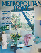 METROPOLITAN HOME MAGAZINE AUGUST 1987 *PARADISE FOUND/THRILL OF THE HUNT*