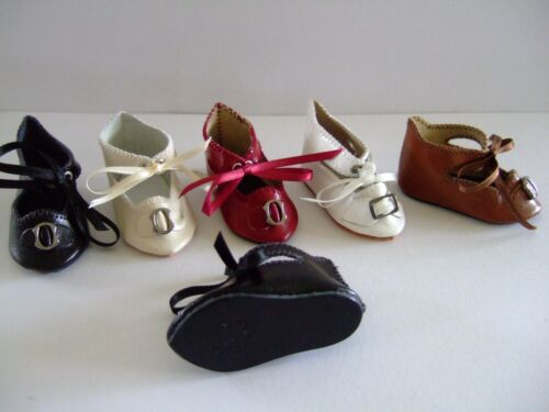 Leather shoes Size 7 for old or modern doll Doll shoes G.BRAVOT 6 cm