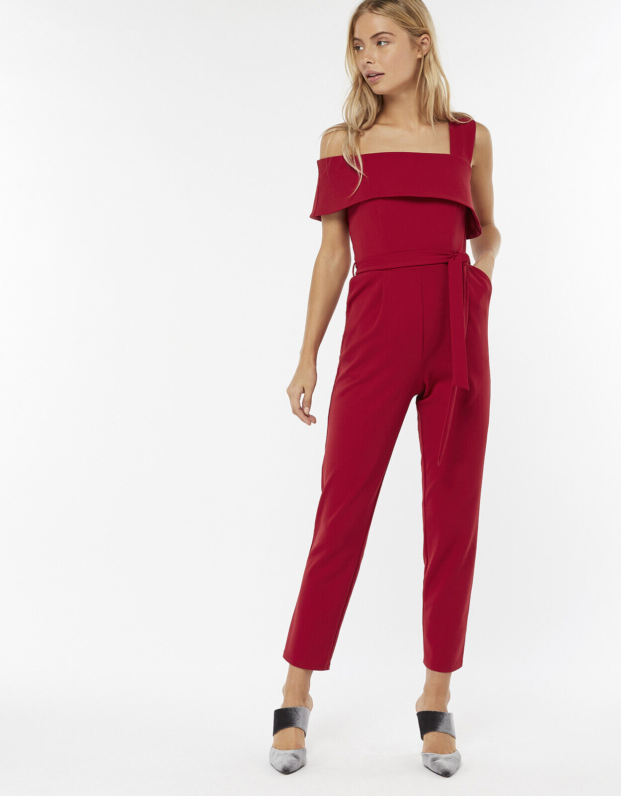 Ladies Monsoon Red Jumpsuit Size 22 NWT Wedding Holidays Stunning