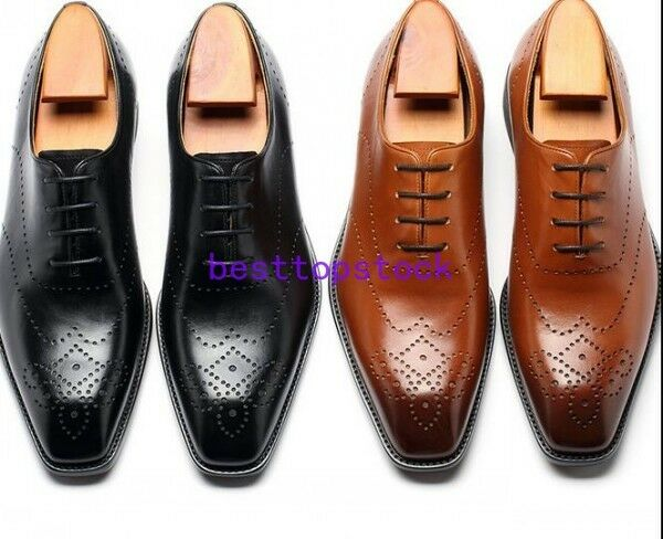 Mens Leather Formal Dress shoes Lace Up Wedding Oxfords Derby pumps All sz