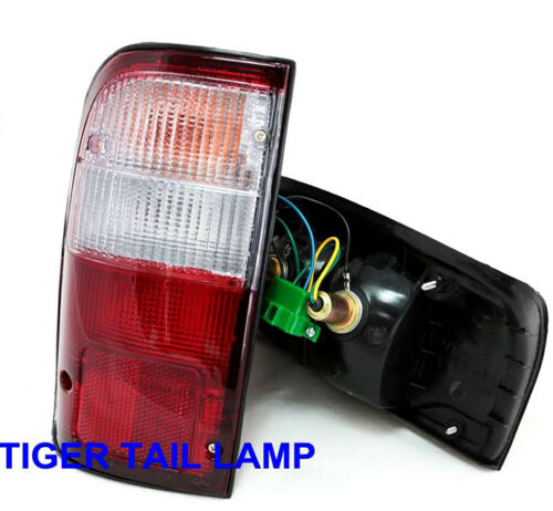 Toyota LN145 Pickup MK4 Pair Rear Tail Lights Wire Bulb Red Wh Lens For 98 89 00