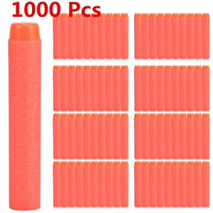 1000Pcs EVA Foam Soft Gun Soft Darts Bullet For Nerf N-Strike Elite Series 7.2CM