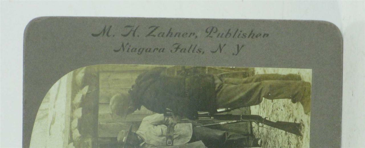 Christmas Hunt Story, Niagara Falls NY, Photo Stereoviews Publisher M. H. Zahner Publisher Stereoviews 54ee05