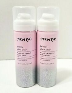 2-Pack-Eva-NYC-Kweeen-Glitter-Spray-Keravis-Argan-Oil-Silver-Glitter-1-0-oz