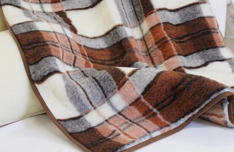 Merino Wool Blanket Pure Lambswool Throw Cover