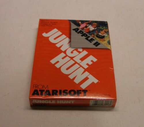 Jungle Hunt by Atarisoft for Apple II+ Apple IIc NEW Apple IIe Apple IIGS