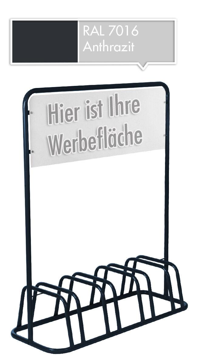 4er mit  Fahrradständer mit 4er Werbeschild Werbetafel Fahrradhalter Fahrradparker NEU da9a5d