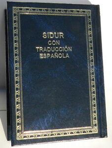 Sidur-Espanol-Spanish-Hebrew-Espanola-Siddur-Jewish-Pray-Book-Judaika-Synagogue