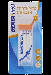 60x-Brosse-Cure-Dents-Brossette-Interdentaire-Dentaire-Nettoyage-2en1