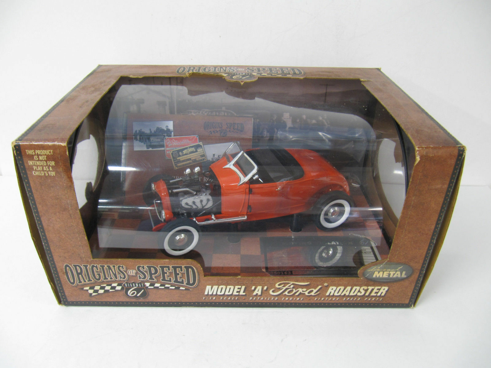 1:18 Highway 61  50163 Origins of speed 1929 Ford Model A ROADSTER arancia/rosso