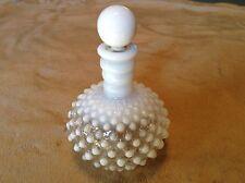 Vintage White Opalescent Hobnail Vanity Bottle - Fenton?
