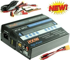 Powerhobby H200 Ac/dc Fast Lipo Chargeur Batterie Arrma W Banane Xt90 Noir