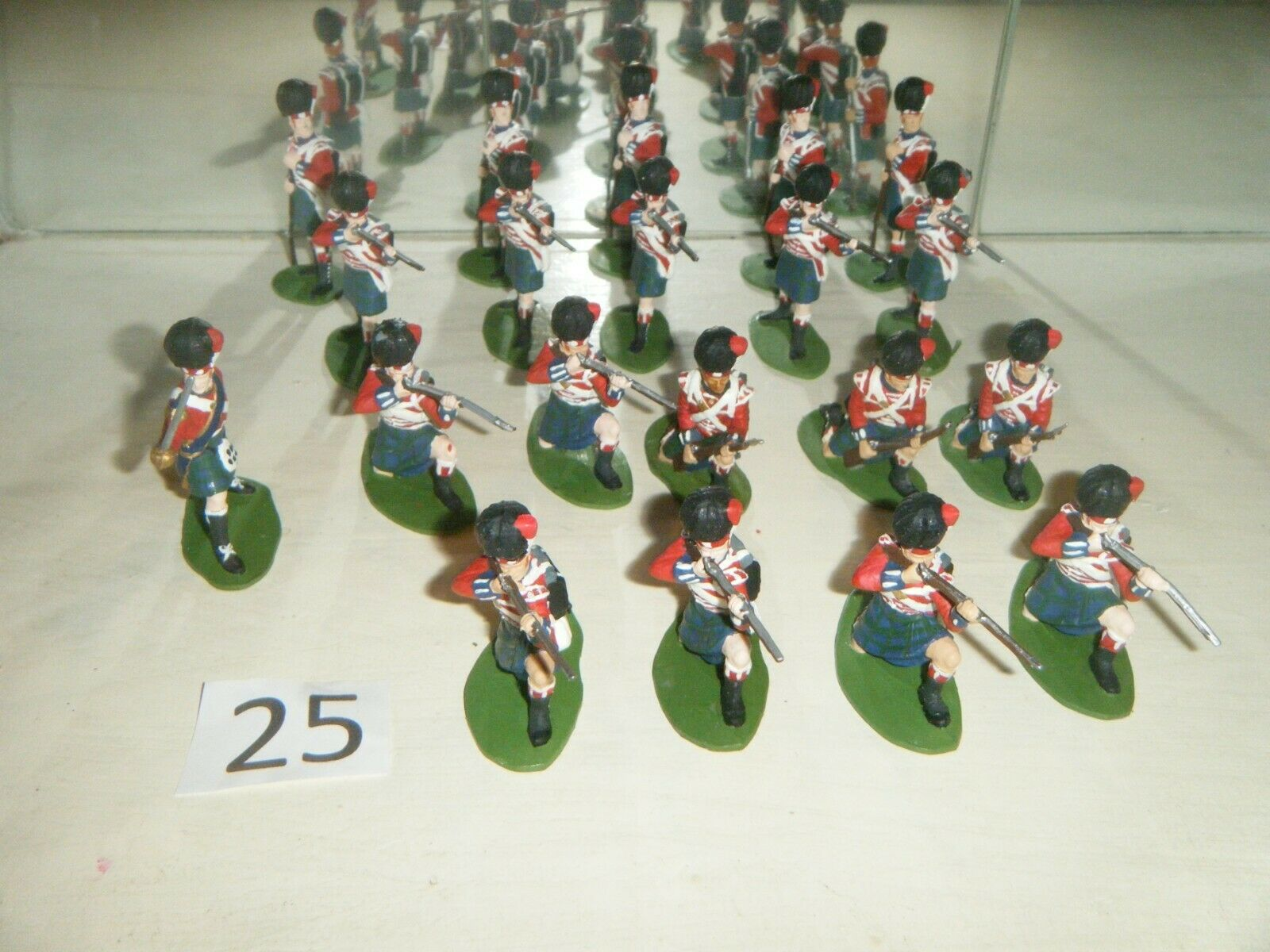 Figuren 1 32 Nr.25 Scheißtische Infantry Waterloo 1815 Airfix  figura 1 32