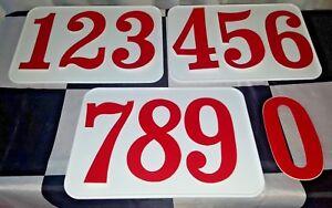 NEW 3-pak 7x10 White Plastic Number Plate ATV Racing ATVA AMA LEGAL TRX YFZ LTR