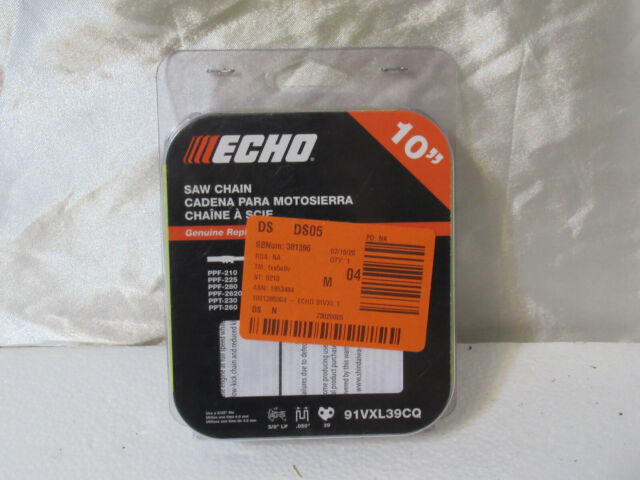 """3//8/"""" 39links .050 10/"""" Saw Chain  Echo PP-600 PP-800 PPF-211 PPT-266 PPT-266H"""