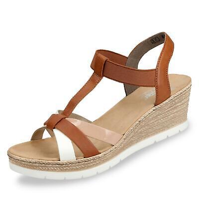 RIEKER Damen Sandalette mit Gummizug Textil Winkler | Ihr