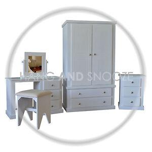 Handmade Dewsbury 5 Piece Bedroom Set White Assembled Ebay