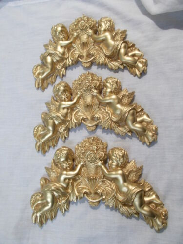 THREE CHERUB SILICONE RUBBER MOULD RESELL MONEY MAKER ORNATE MOULDINGS