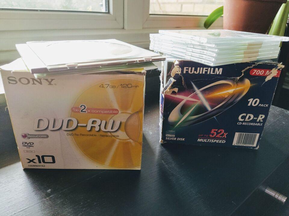 DVD+RW, CD-RW, Sony