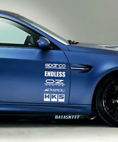 Racing Sponsors Chevrolet Chevy Sport Car Sticker Emblem Logo Decal White Pair
