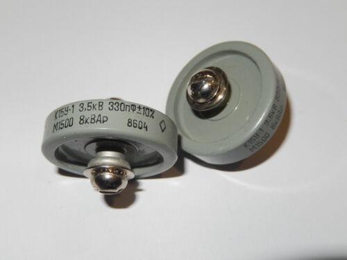 330pF 3.5kV 8kVAR Doorknob Capacitors  K15Y-1  NOS Lot of 5 pcs