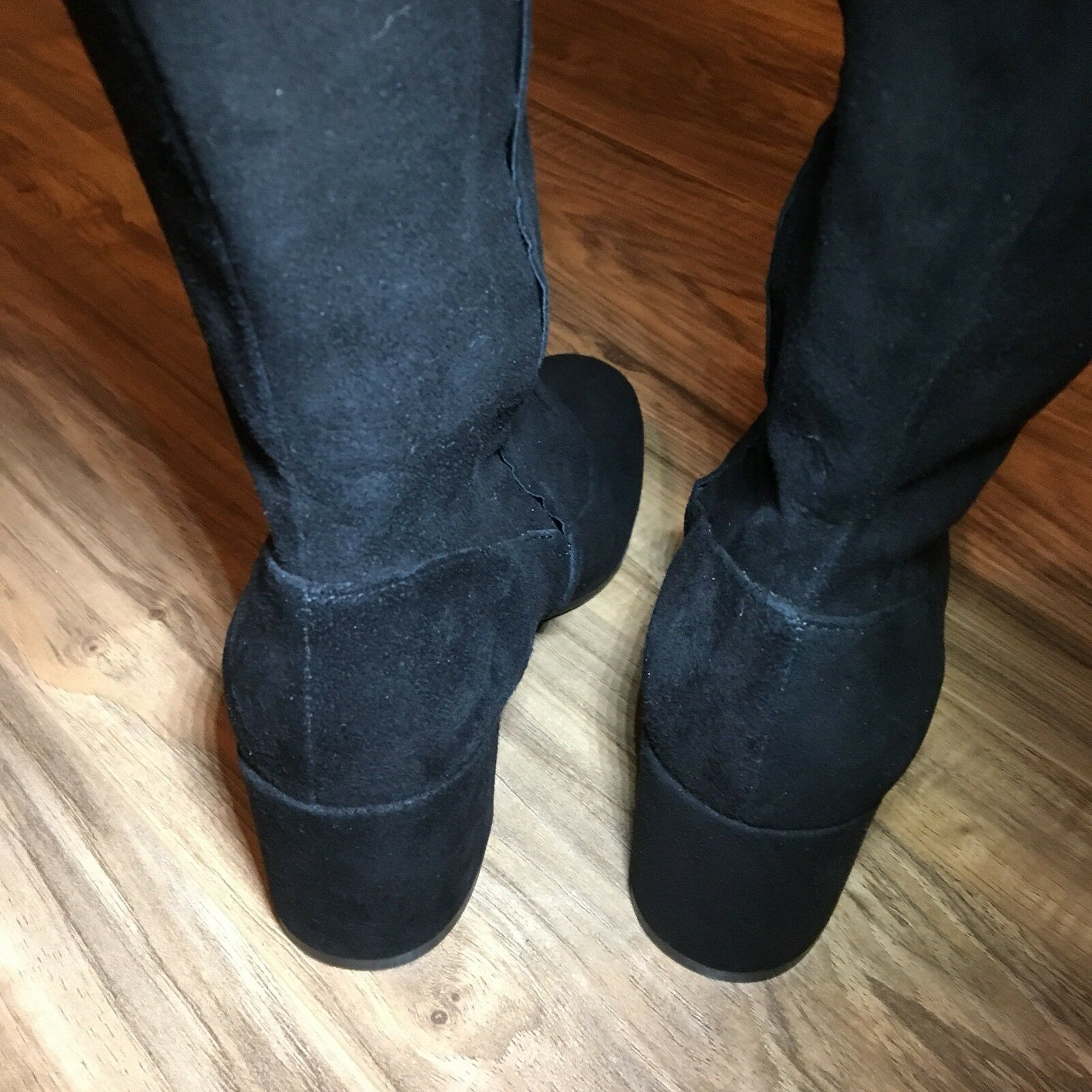 Vince Blythe Suede Over The Knee Block Heel Boots Boots Boots Size 5.5  695  Round Toe ae7422