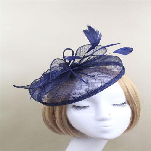 Bridal Headband Gauze Headdress Hat Fascinator Wedding Ladies Hair Clip Headwear