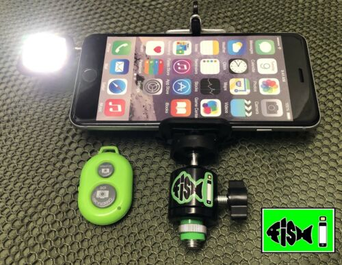 Mobile Phone holder for bankstick.Phone holder for fishing.Inc Light And Remote.