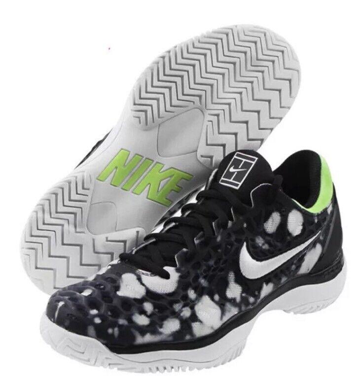 NWT herr Nike Air Zoom Cage 3 HC Premium Tennis skor Oreo - 923121 -002 - SZ -11