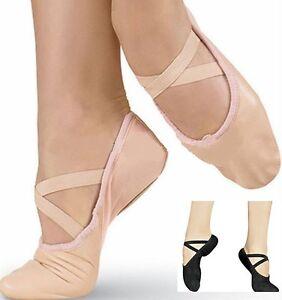 Ballett Tanzen Schuhe kompletter Sohle Schuhe mit befestigter gekreuzt elastisch