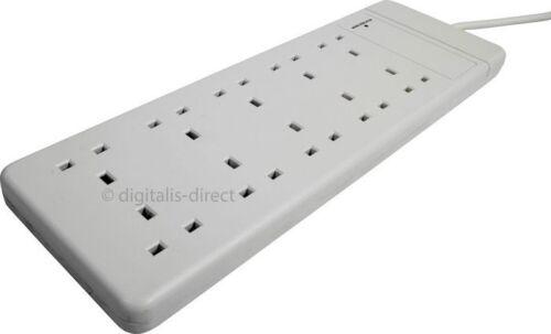 10 façon mains Rallonge électrique Trailing Socket avec câble d/'alimentation 2m NEUF