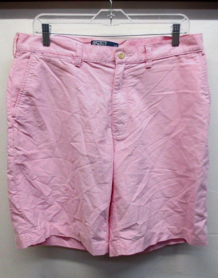 EUC  Polo by Ralph Lauren Men's Pink Prospect Shorts Size 34, 11 1 2 inch rise