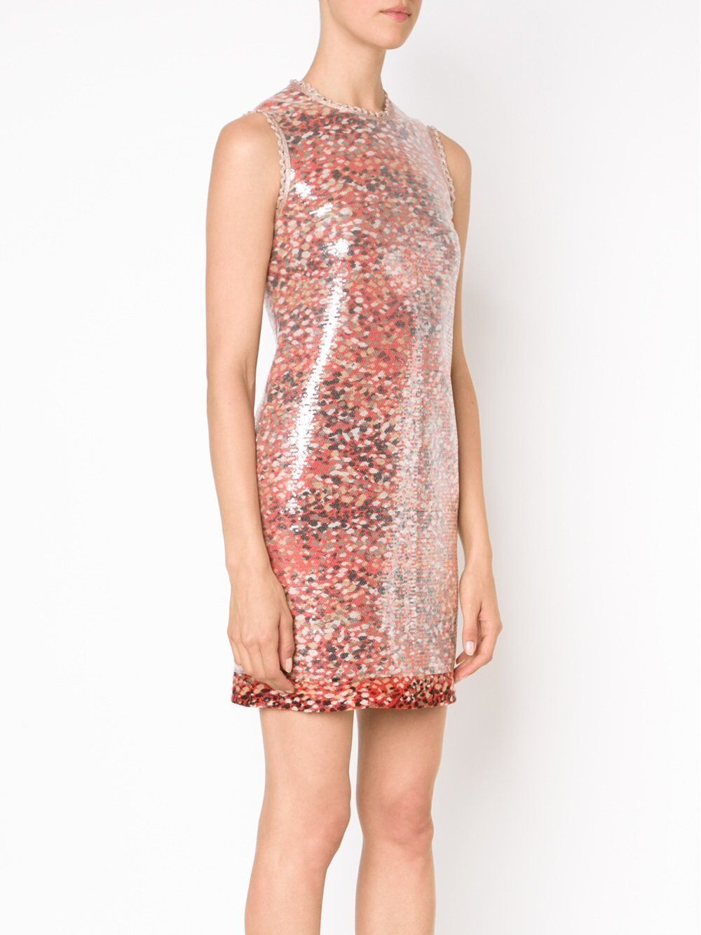 3050.00 NWT Missoni Red Wool Blend Sequin Fitted Dress Size 40 IT 6a6fc4