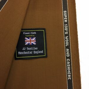 CHARLES-SOWDEN-Brown-Super-130-039-s-Wool-amp-Cashmere-Suit-Fabric-260g