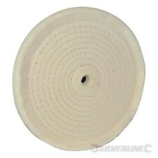 Silverline Spiralförmig abgesteppte Baumwoll-Polierscheibe 150 mm