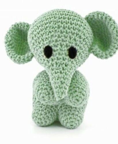 Hoooked Elefante Mo Hágalo usted mismo kit Eco barbante primavera color hecha en Portugal