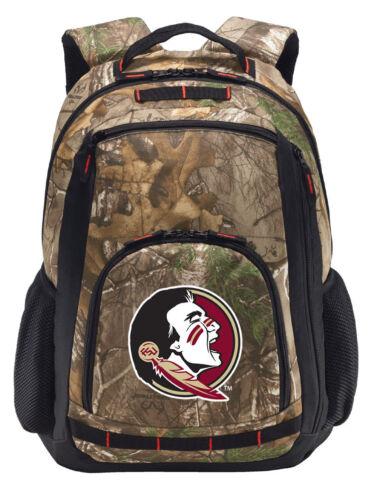 FLORIDA STATE Backpack REALTREE CAMO FSU SEMINOLES Computer Laptop Bag