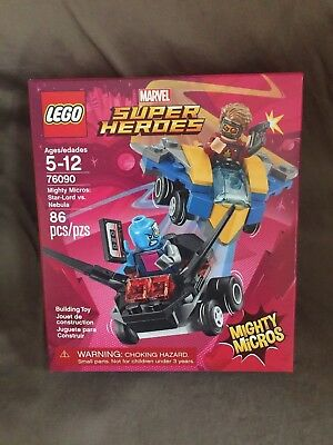 Lego Super Heroes Marvel Mighty Micros StarLord vs Nebula 76090 NEW v2 D100