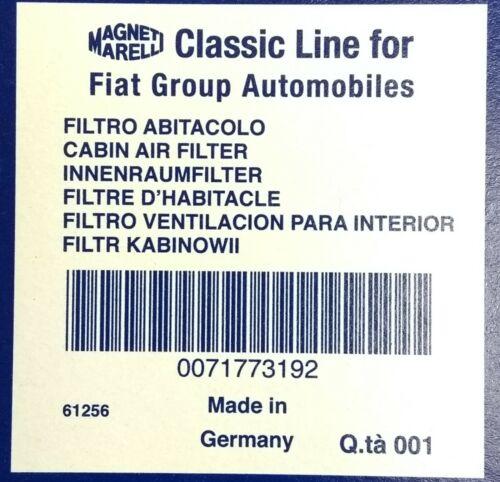 71773192 NEW GENUINE FIAT PUNTO ALFA ROMEO MITO POLLEN FILTER