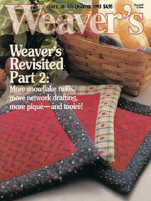 Weaver/'s magazine 20 polychrome; pique; moire; snowflake